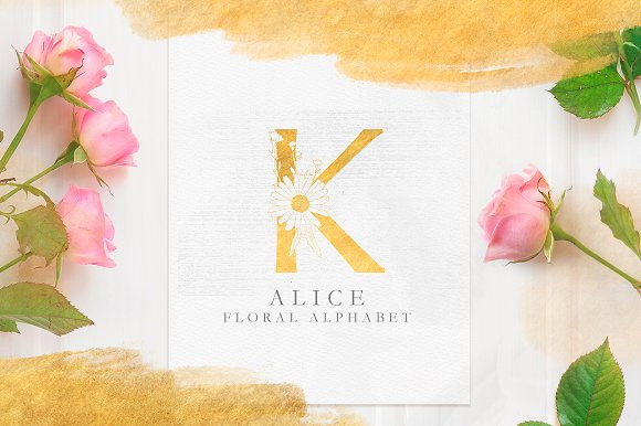 Floral Alphabet ALICE
