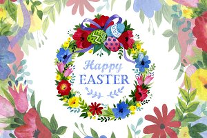 Cards Happy EASTER watercolor