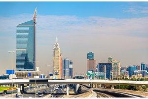 Skyscrapers in Dubai Downtown, United Arab Emirates