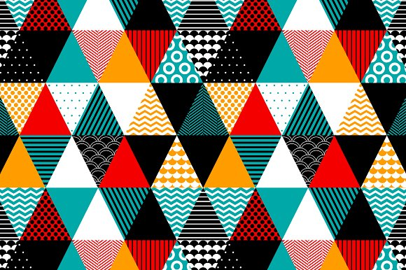 Colorful Textured Triangles Pattern