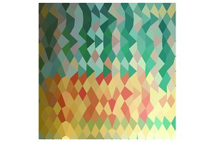 Emerald Green Harlequins Abstract Lo