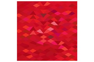 Imperial Red Abstract Low Polygon Ba