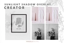 Sunlight Shadow Overlay Creator by Marsala Digital in Product Mockups