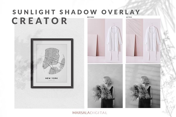Product Mockups: Marsala Digital - Sunlight Shadow Overlay Creator