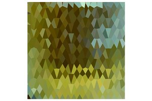 Moss Green Abstract Low Polygon Back