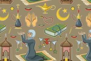 Ramadan muslims holy month pattern