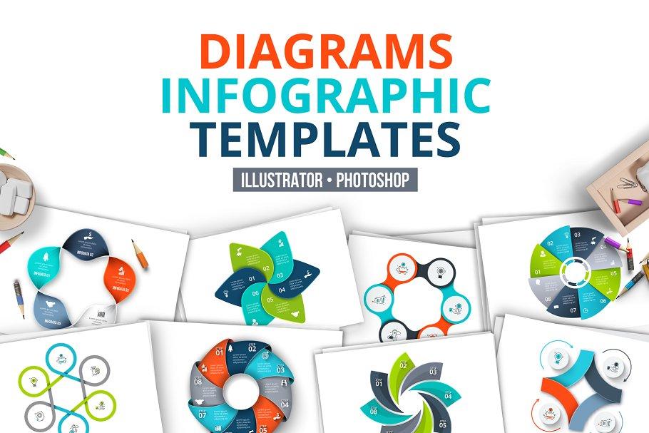 Diagrams infographic templates - Presentation Templates   Creative ...