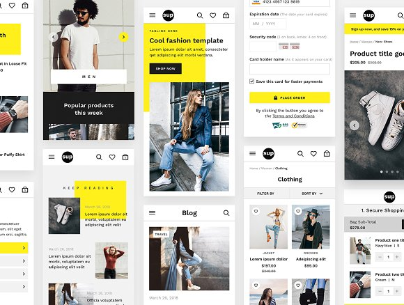 SUP Fashion Ecommerce UI Kit