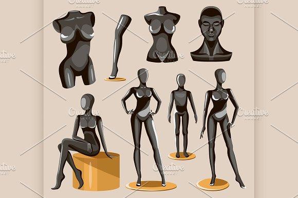 Display Black Realistic Fashion Body