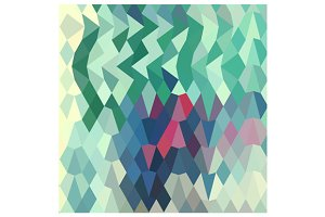 Myrtle Green Abstract Low Polygon Ba
