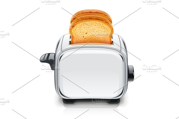 Metallic Toaster Kitchen Equipment