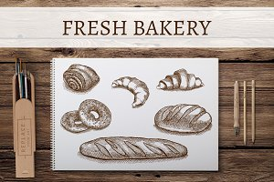 Bakery sketches.