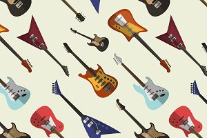 Bright electric guitars pattern