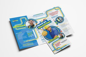 Electrician Trifold Brochure