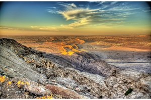 View from Jebel Hafeet mountain towards Al Ain - UAE