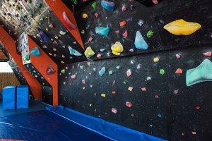 Colorful climbing modern gym