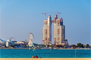 Skyscraper under construction at the Marina of Abu Dhabi