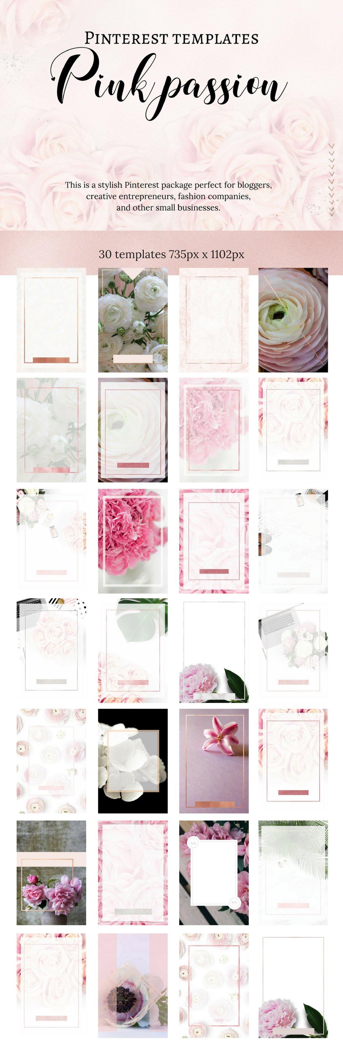 Pinterest templates- Pink passion