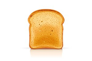 Bread toast for sandwich piece