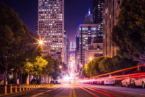 Famous California Street in San Fran