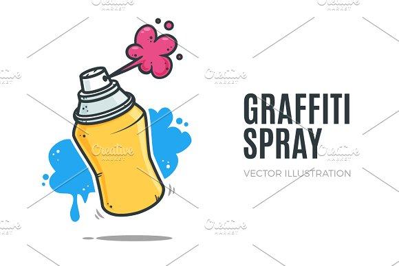 graffiti spray illustrations creative market