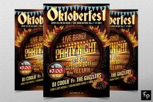 Oktoberfest Party Night Flyer