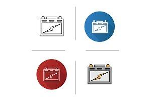 Automotive battery icon