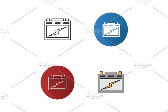 Automotive Battery Icon