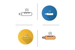 French hot dog icon