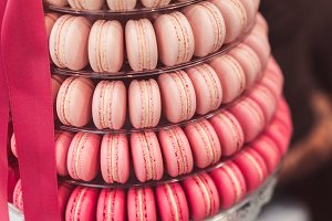 Beautiful Yummy Macaron Cake Pyramid