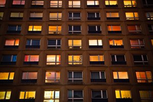 Windows at night