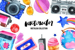 Watercolor nostalgia collection