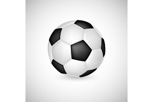 Soccer ball in 3d realistic style.