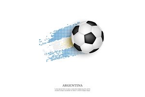 Soccer ball on Argentina flag.
