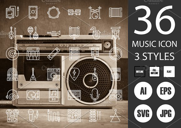 Music Instrument Icons in Icons