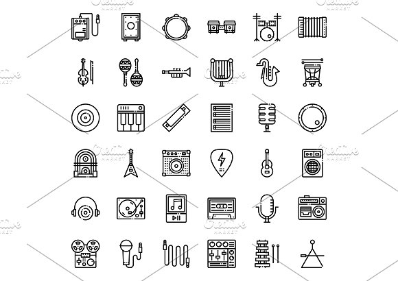 Music Instrument Icons in Icons - product preview 2