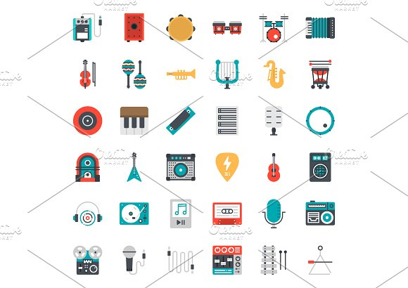 Music Instrument Icons in Icons - product preview 3