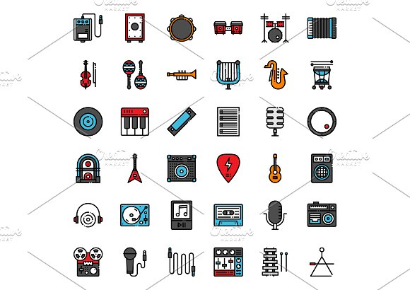 Music Instrument Icons in Icons - product preview 4