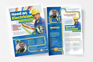 A4 Electrician Poster Template