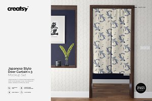 Door Curtain Mockup Set v.3