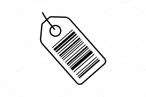 Barcode Label Color Icon