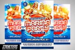 Marina Party Flyer