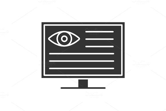 Eye Diagnostic Computer Glyph Icon