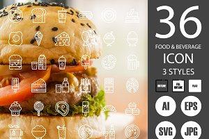 Food/Beverage/Snack Icons