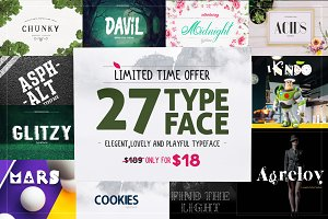 27 Typeface only in $18