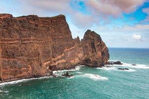 Cliff in the Atlantic Ocean