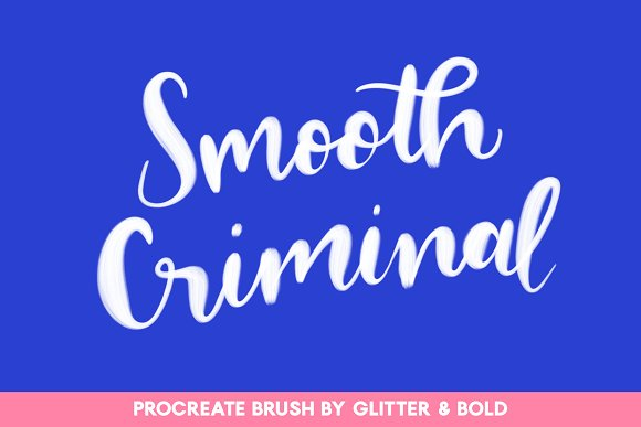 Smooth Criminal Procreate Brush
