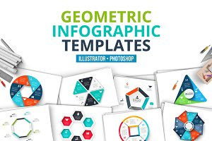 Geometric infographic templates