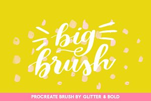 Big Brushy for Procreate Lettering