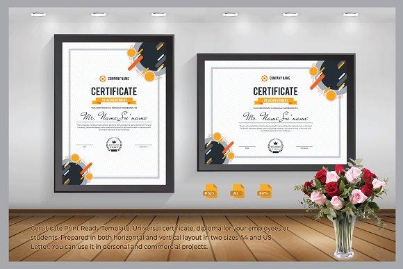 Certificate Print Ready Template